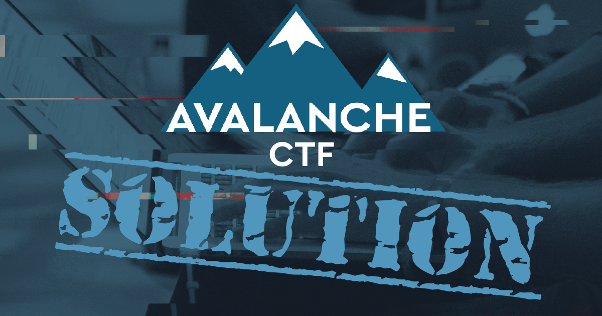 Avalanche CTF solution - Pentest - Information security assurance