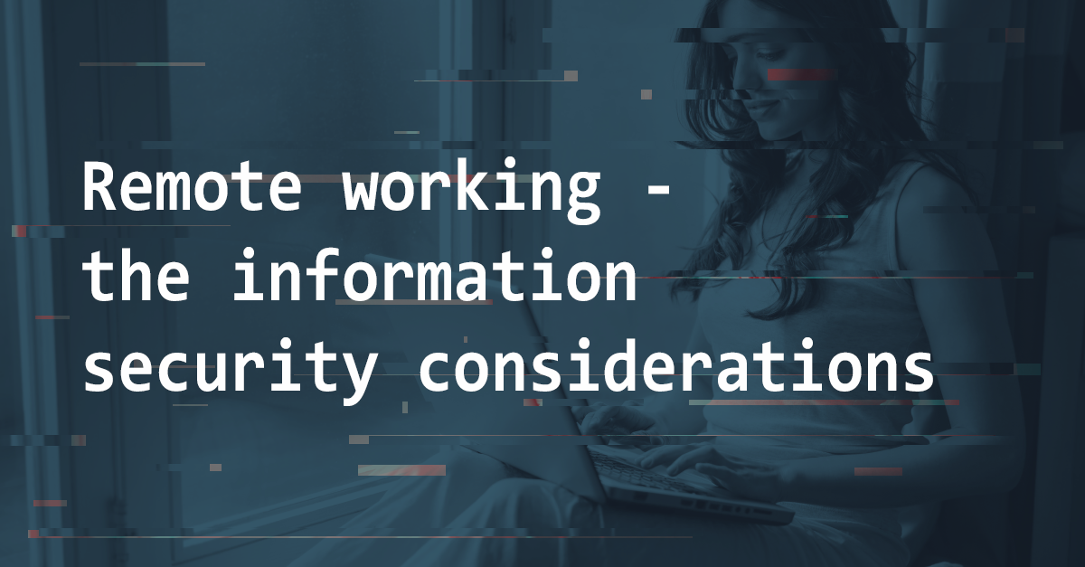 Remote working - information security considerations | Pentest